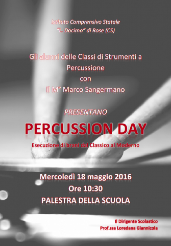 percussion day